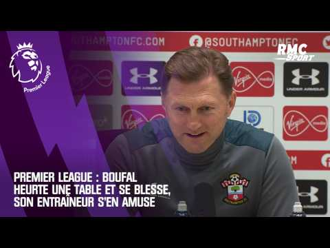 VIDEO: Premier League : Boufal heurte une table et se blesse, son entraîneur s'en amuse