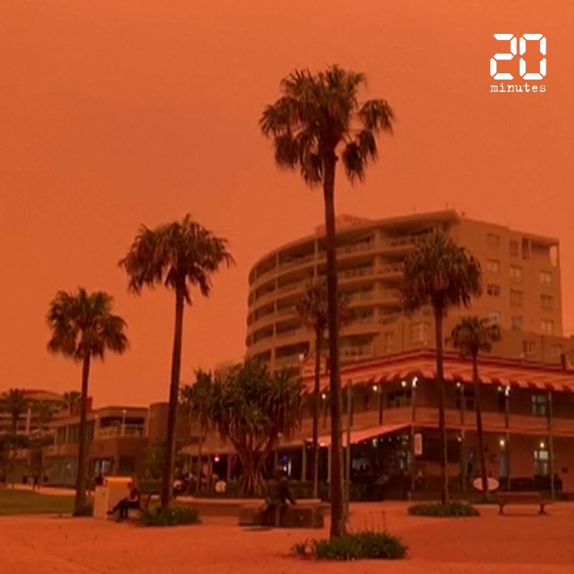 Australie: Des dizaines de feux créent un ciel orange dans l'est du pays