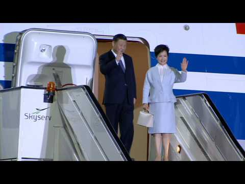 Chinese President Xi Jinping arrives in Athens en route to BRICS summit