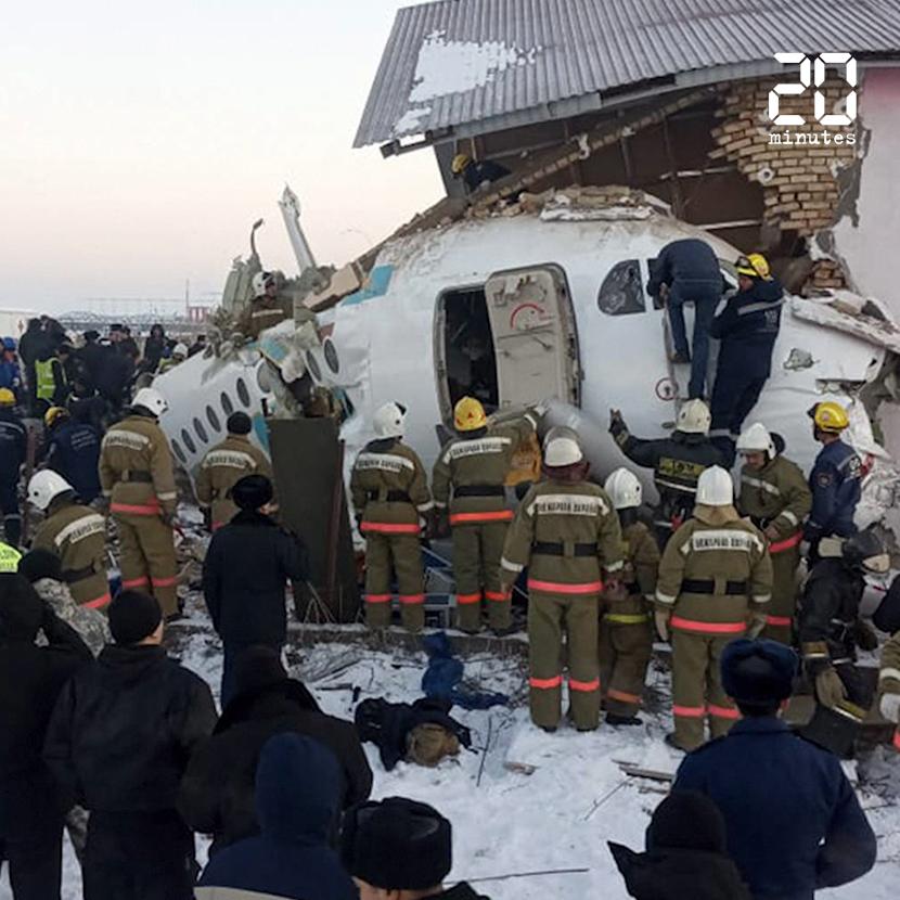 Au moins 12 morts dans le crash d'un avion au Kazakhstan