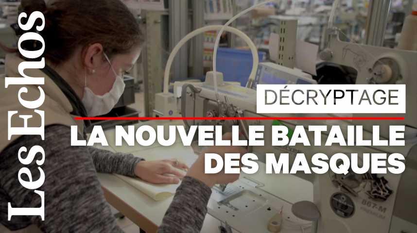 Illustration pour la vidéo Comment le coronavirus relance l'industrie des masques en Bretagne