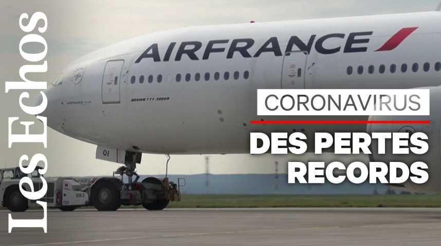 Illustration pour la vidéo Coronavirus : Air France - KLM affiche des pertes records
