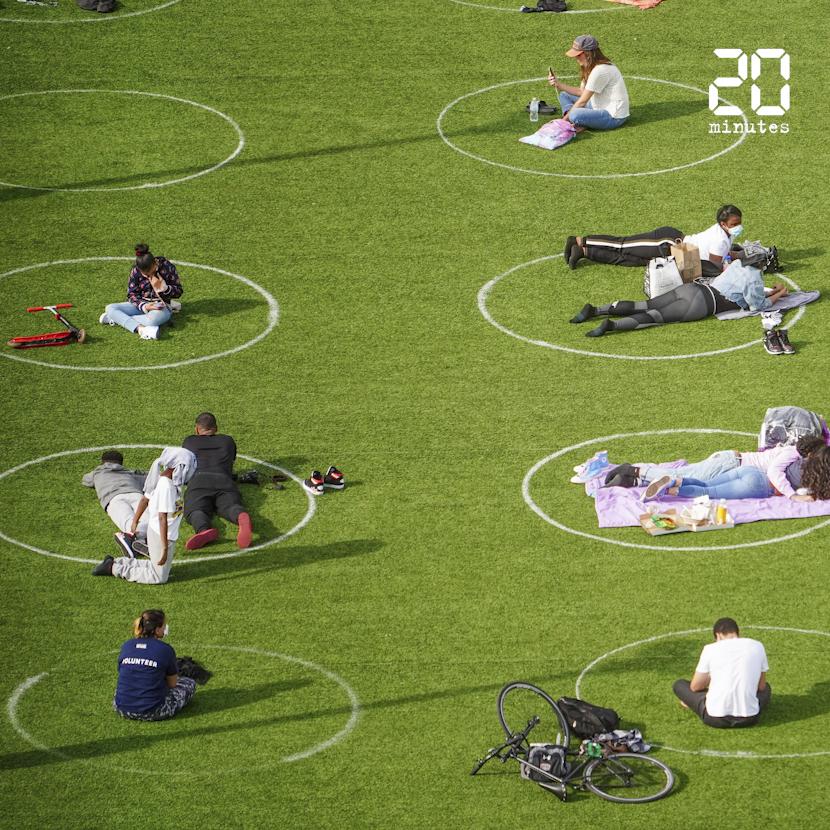 Voici à quoi ressemble un parc à l'ère du coronavirus