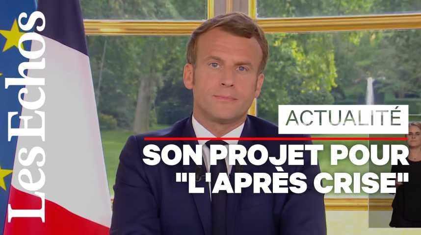 Illustration pour la vidéo Déconfinement, économie, racisme : ce qu'il faut retenir de l'allocution d'Emmanuel Macron