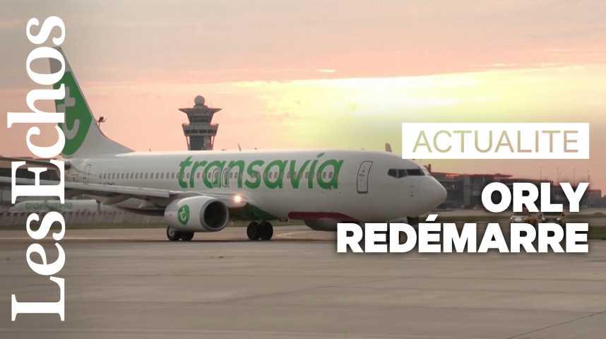 Illustration pour la vidéo L'aéroport d'Orly redémarre après un arrêt forcé de près de trois mois