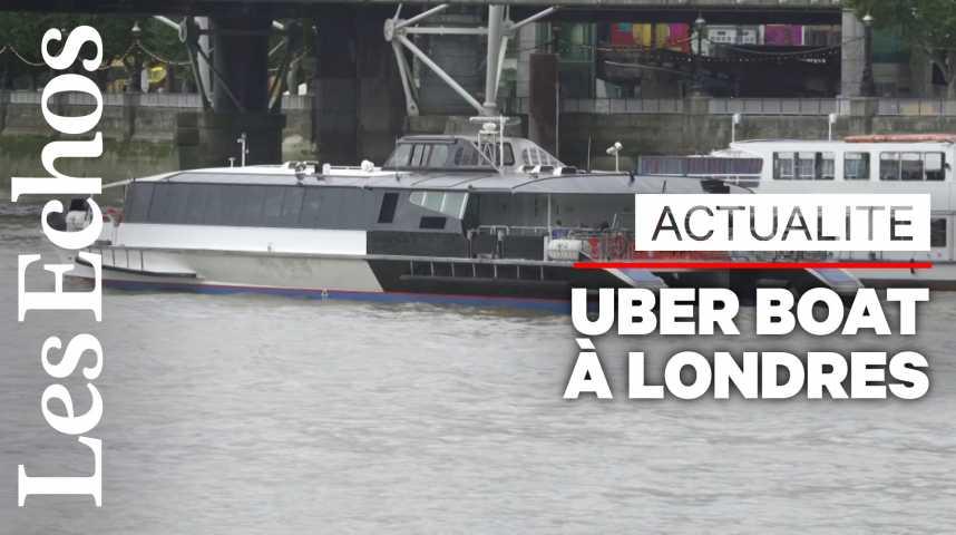 Illustration pour la vidéo Uber prépare ses bateaux « Uber Boat » à Londres