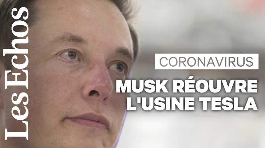 Illustration pour la vidéo Déconfinement : Elon Musk défie les autorités californiennes en rouvrant l'usine Tesla