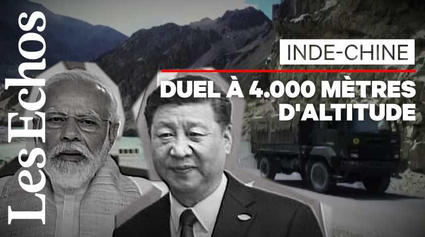 Illustration pour la vidéo Inde - Chine : corps à corps sur le toit du monde