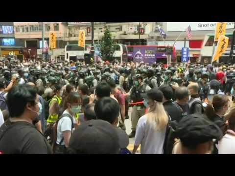Hundreds at Hong Kong protest after China security law plan