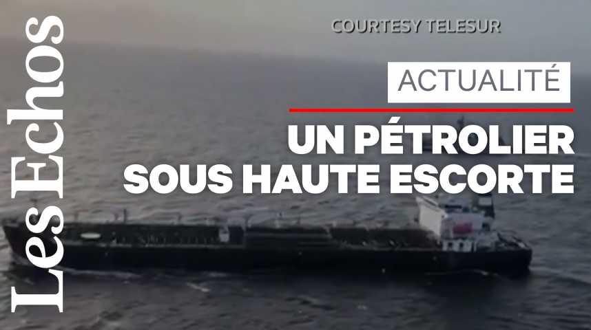 Illustration pour la vidéo Un navire iranien chargé de produits pétroliers arrive au Venezuela