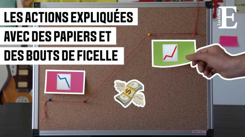 Illustration pour la vidéo Eureka #4: Les actions expliquées avec des papiers et des bouts de ficelle