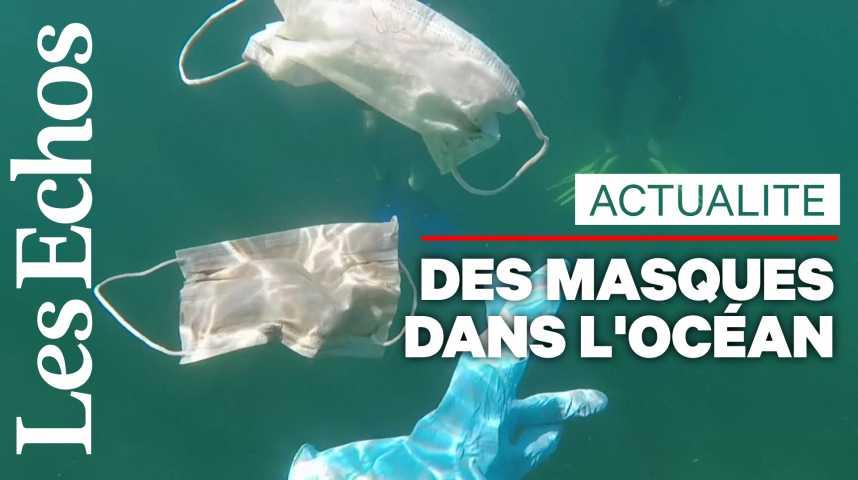 Illustration pour la vidéo Coronavirus: de nombreux masques retrouvés dans les océans
