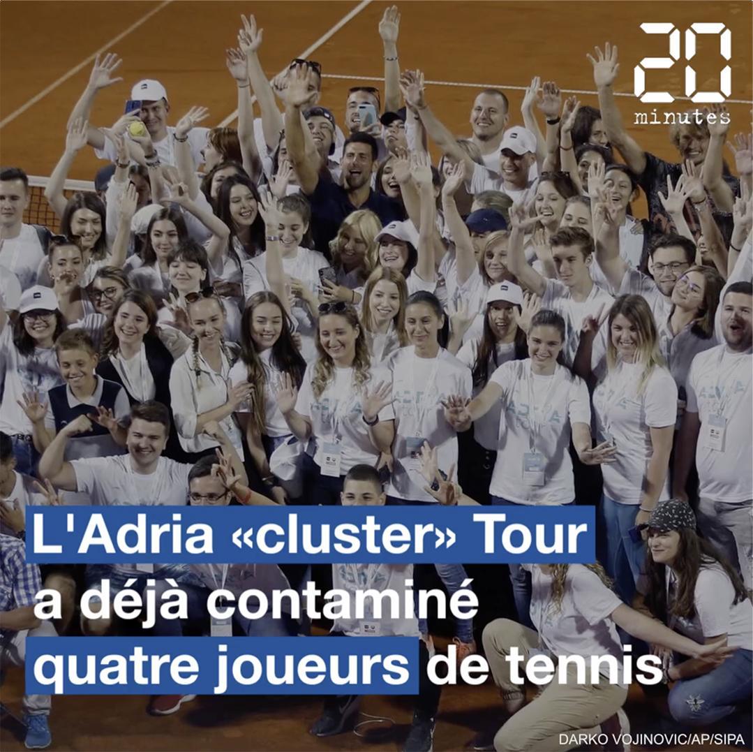 Coronavirus : Bienvenue au Novak Djokovic Adria «cluster» Tour
