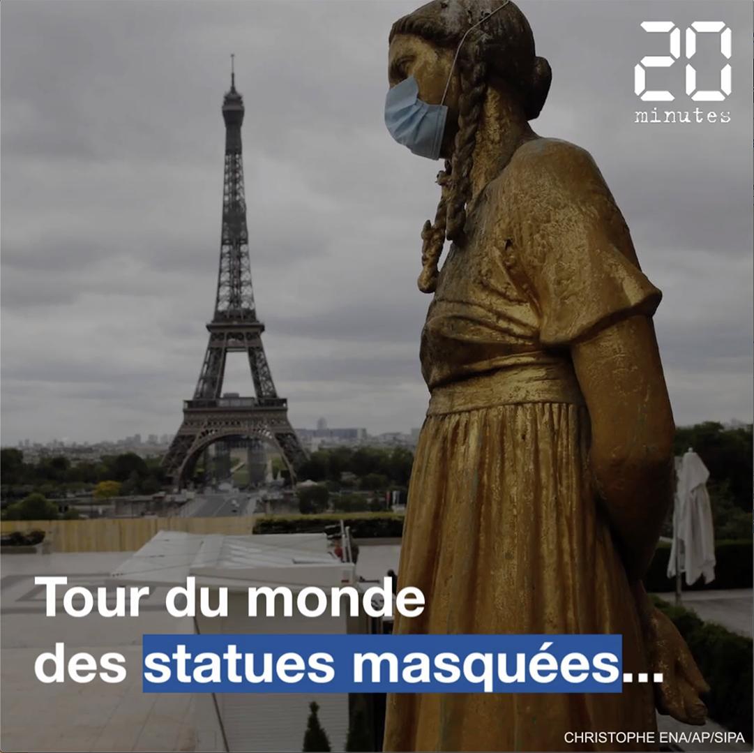 Coronavirus : Tour du monde des statues masquées