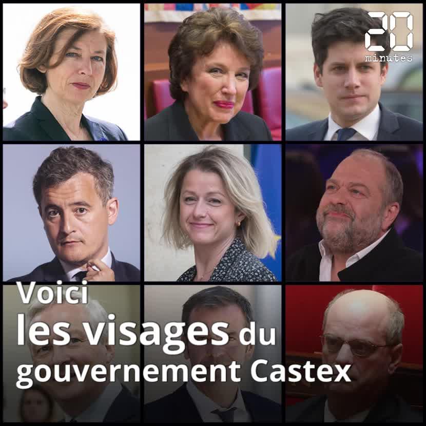 Les visages du gouvernement Castex