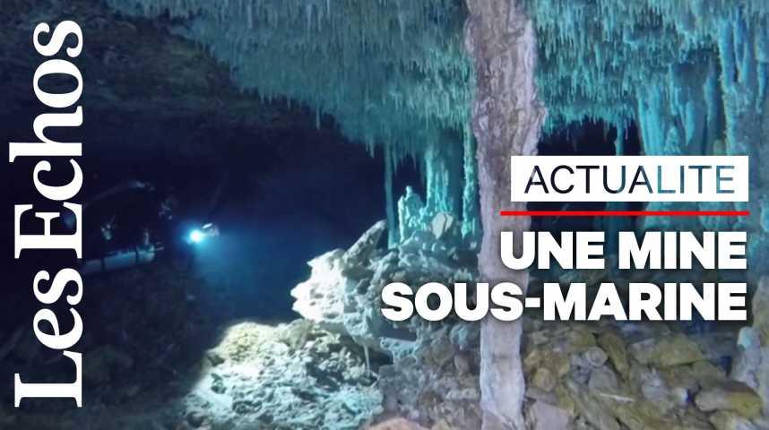 Illustration pour la vidéo Découverte de mines d'ocre sous-marines de 12 000 ans au Mexique