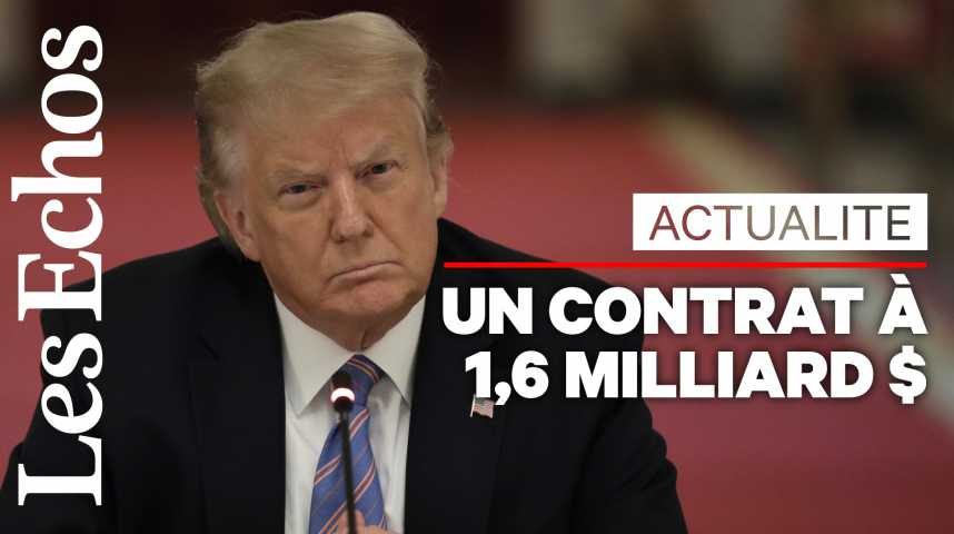 Illustration pour la vidéo Le gouvernement Trump signe un nouveau gros chèque pour un projet de vaccin