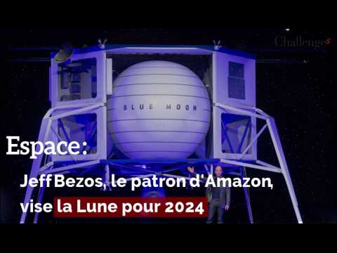 Espace : Jeff Bezos, le patron d'Amazon, vise la lune pour 2024