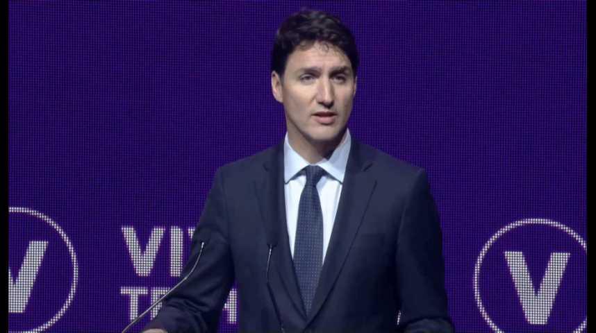 Illustration pour la vidéo VivaTech : réécoutez l'intervention de Justin Trudeau