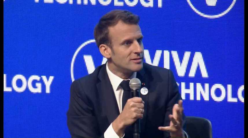 Illustration pour la vidéo Emmanuel Macron veut protéger la tech européenne de l'appétit des géants américains