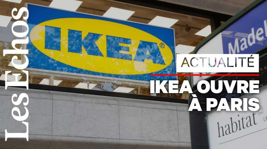 Illustration pour la vidéo Ikea ouvre son premier magasin dans Paris