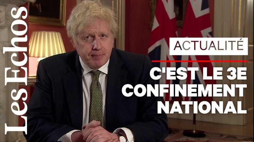Illustration pour la vidéo Boris Johnson annonce le reconfinement total de l'Angleterre