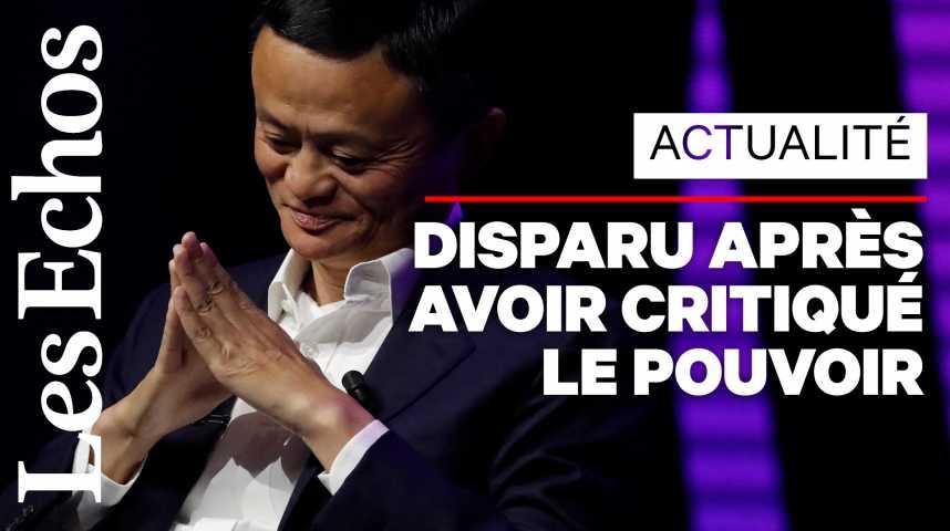 Illustration pour la vidéo L'étrange disparition de Jack Ma inquiète tout le monde (même la Bourse)