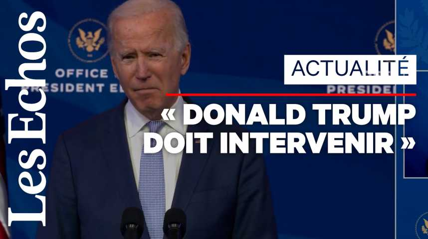 Illustration pour la vidéo Joe Biden qualifie d'« insurrection » les violences au Capitole