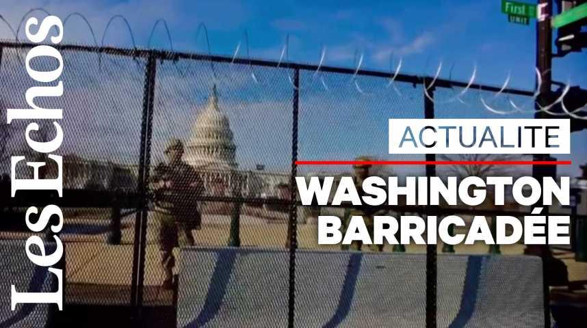 Illustration pour la vidéo Washington barricadée avant l'investiture de Joe Biden