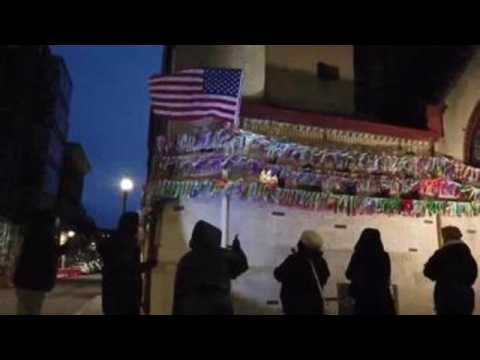Boston church hangs 13,795 ribbons to honor COVID-19 victims in Massachusetts