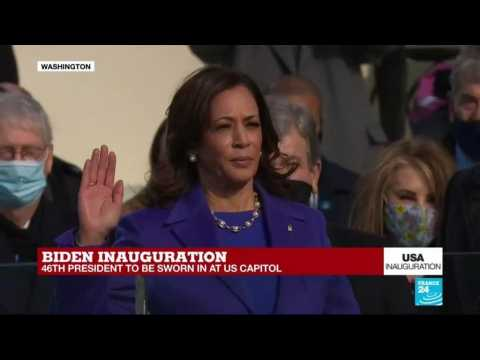 Kamala Harris swears in as US first-ever Vice President