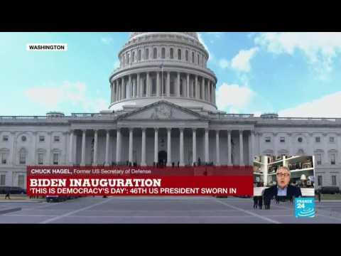 Joe Biden sworn in as 46th US President after 'damaging Trump years', says former Defence Secretary