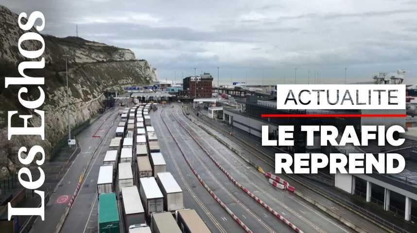 Illustration pour la vidéo Camions bloqués à Douvres: la situation revient à la normale