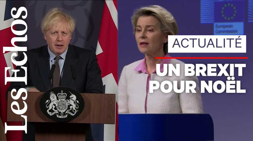Illustration pour la vidéo Le Royaume-Uni et l'Union européenne trouvent un accord sur le Brexit