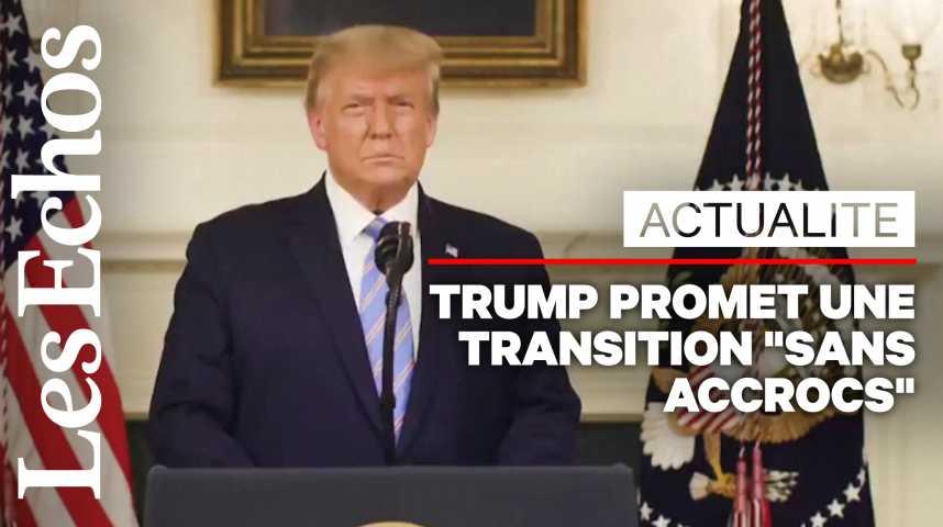 Illustration pour la vidéo Donald Trump condamne les violences et promet un « transition sans accrocs »