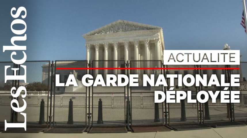 Illustration pour la vidéo Washington se barricade, la garde nationale déployée