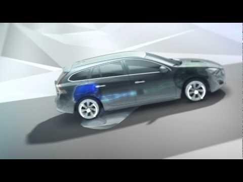 Volvo V60 Plug In Hybrid, Electric All Wheel Drive animation