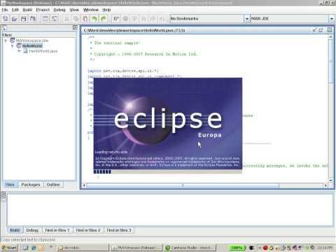 Web Development - How to transition from the JDE to eJDE - BlackBerry