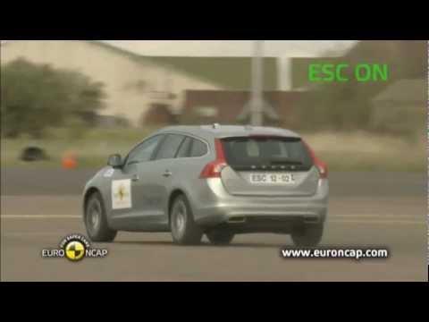 Volvo V60 Plug In Hybrid ESC Tests 2012