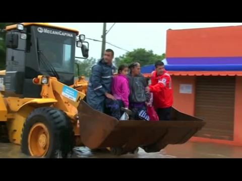 Thousands evacuated from flooded homes in Brazil
