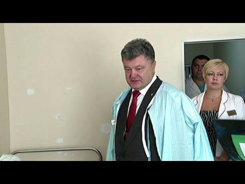 Ukrainian President visits those wounded in Kiev clashes