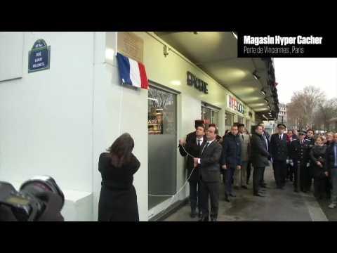 Hyper Cacher: la plaque en mémoire des victimes dévoilée