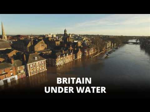 Drone view of flooded York: Storm Frank in numbers