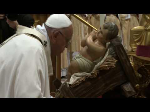 Pope Francis celebrates Christmas Eve Mass