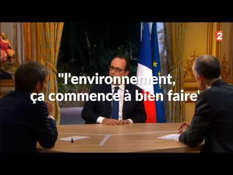 Quand François Hollande tacle Nicolas Sarkozy sur l'environnement (et l'agriculture)