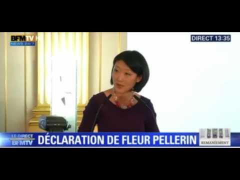 """Fleur Pellerin : """"Je quitte le ministère avec le coeur serré"""""""