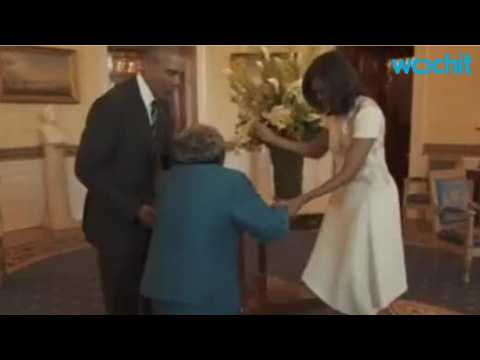 106-Year-Old Ecstatic To Meet President Obama