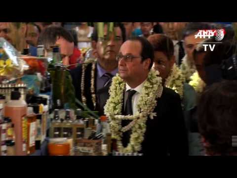 Hollande recognises French Polynesia's nuclear contribution