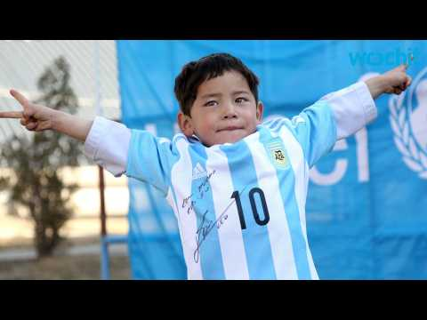 Afghan Boy Trades Plastic Bag Messi Jersey for Real Thing