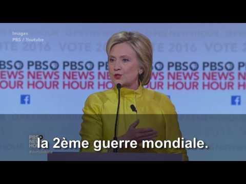 """Hillary Clinton : """"Nous ne sommes pas la France"""""""